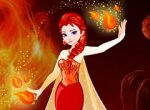 Frozen Elsa com o Poder de Fogo